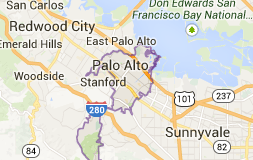 Palo Alto Map - Catherine Hendricks Real Estate