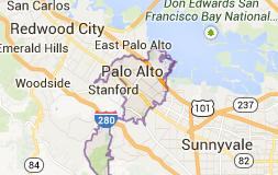 Palo Alto Map - Catherine Hendricks Real Estate