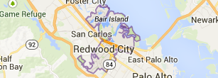 Redwood City Map - Catherine Hendricks Silicon Valley Realtor