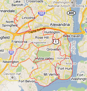 Alexandria (Fairfax County) Public Schools Zone Map