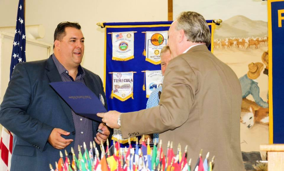 Representing Turlock Rotary and was awarded the distinction of a Paul Harris Fellow.
