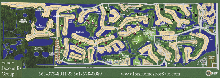 Ibis Golf and Country Club map
