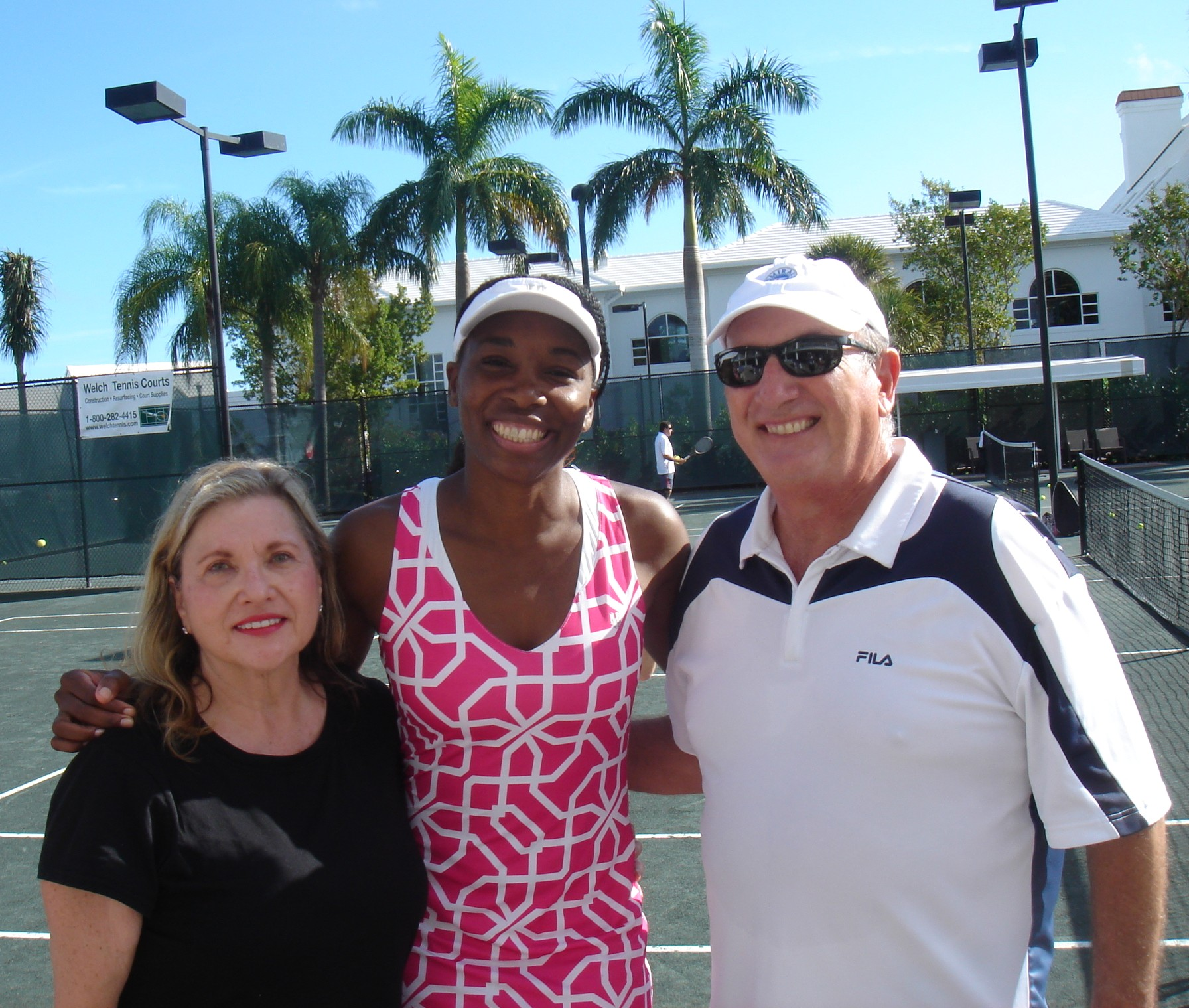 The Orrico Team FL with tennis star Venus Williams at Admiral's Cove
