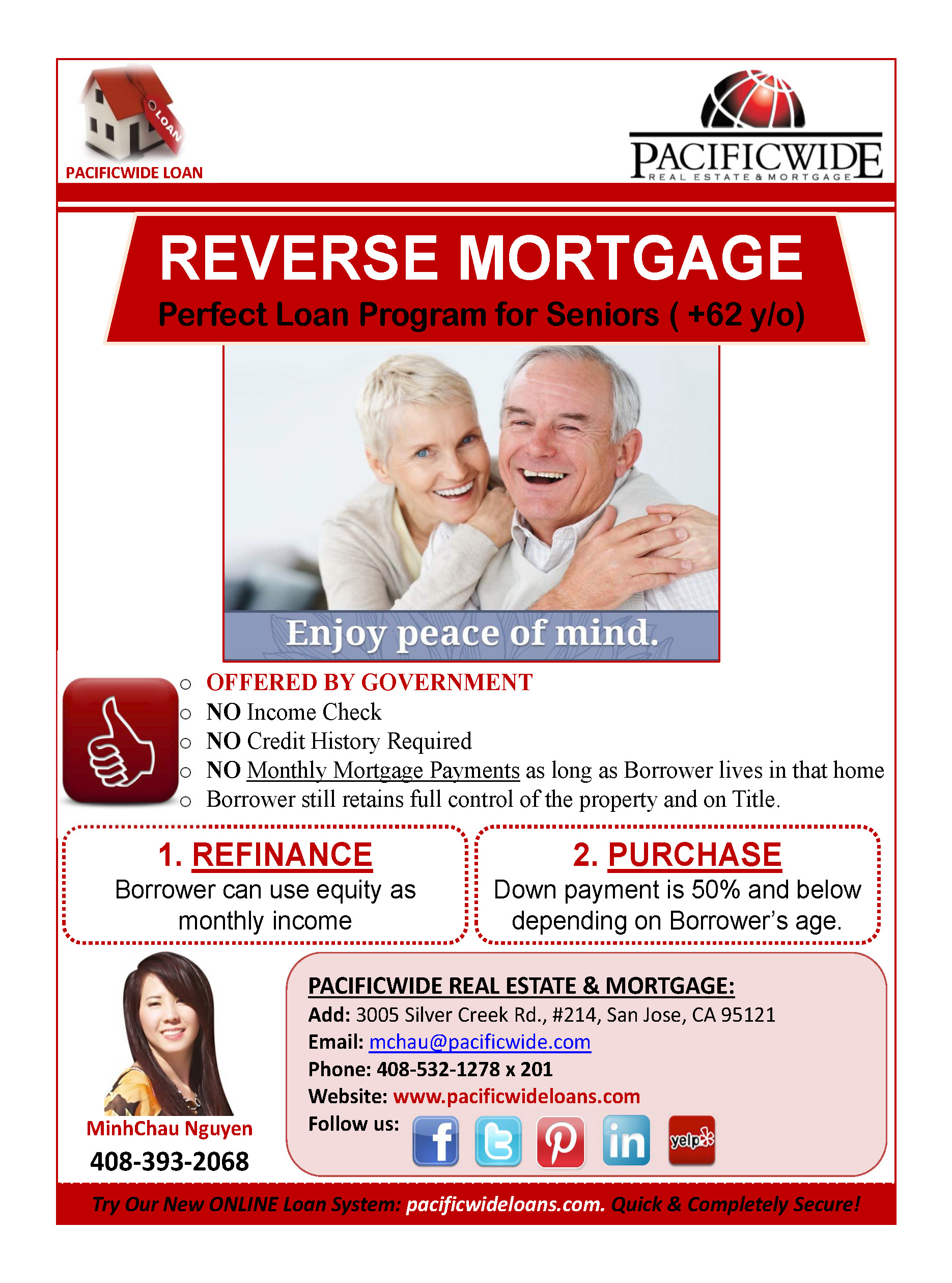 Reverse Mortgage (For Senior Over 62 y/o)