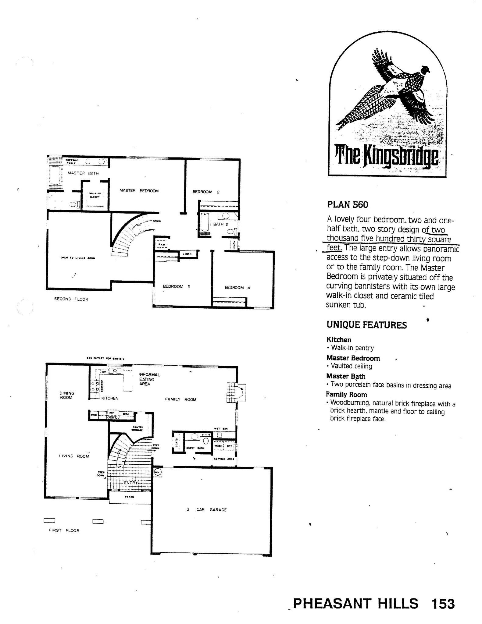 Pheasant Hills - The Kingsbridge - Plan 560