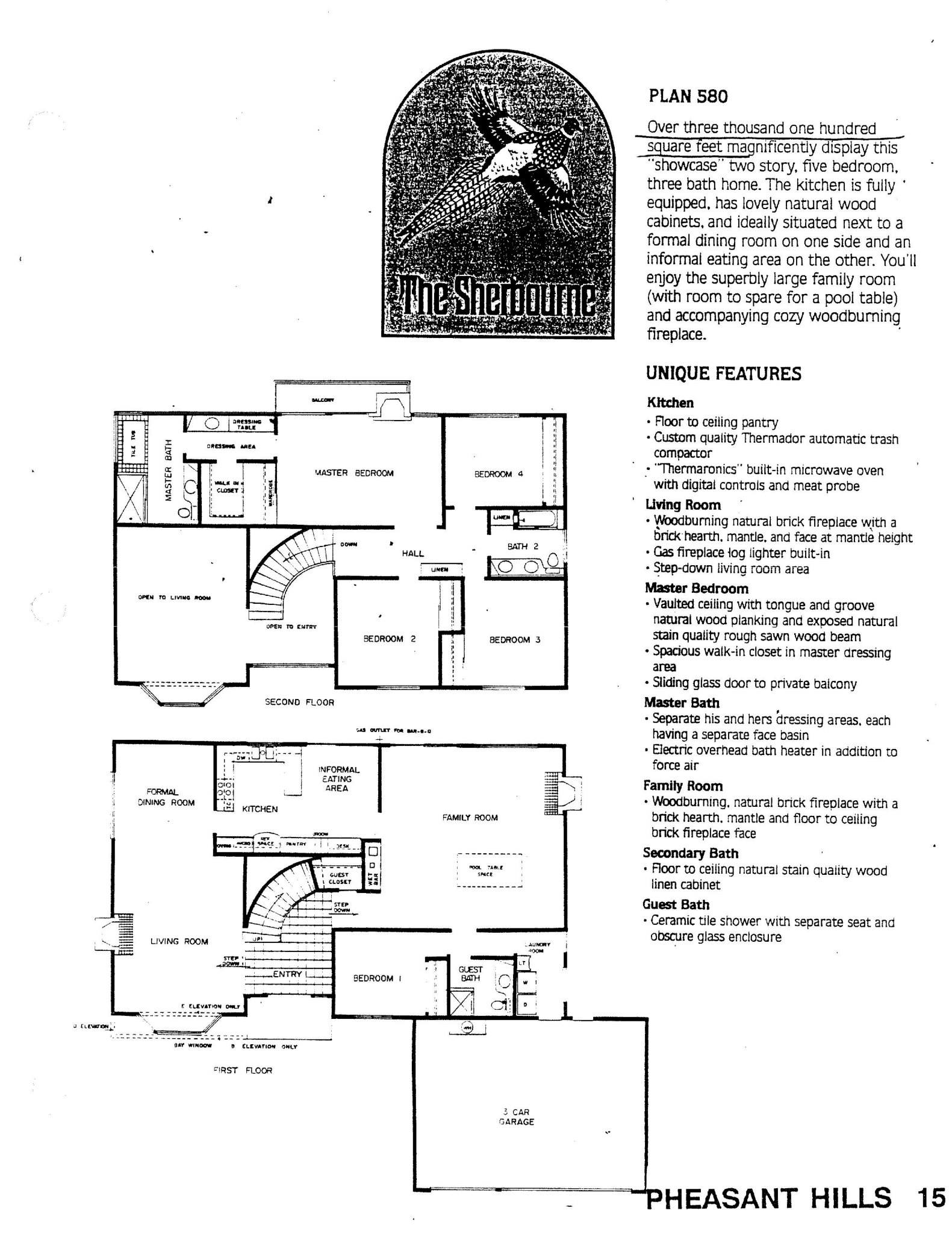 Pheasant Hills - The Sherbourne - Plan 580