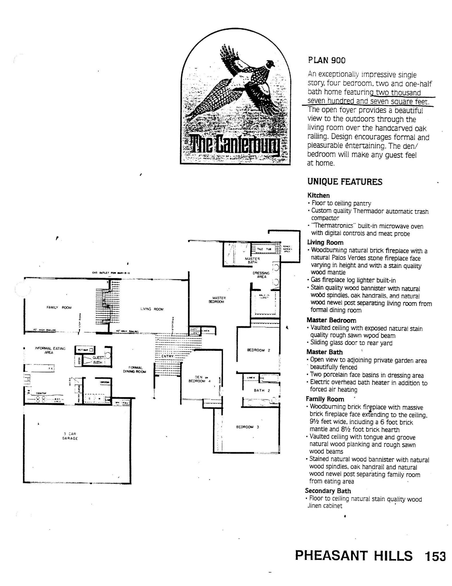 Pheasant Hills - The Canterbury - Plan 900