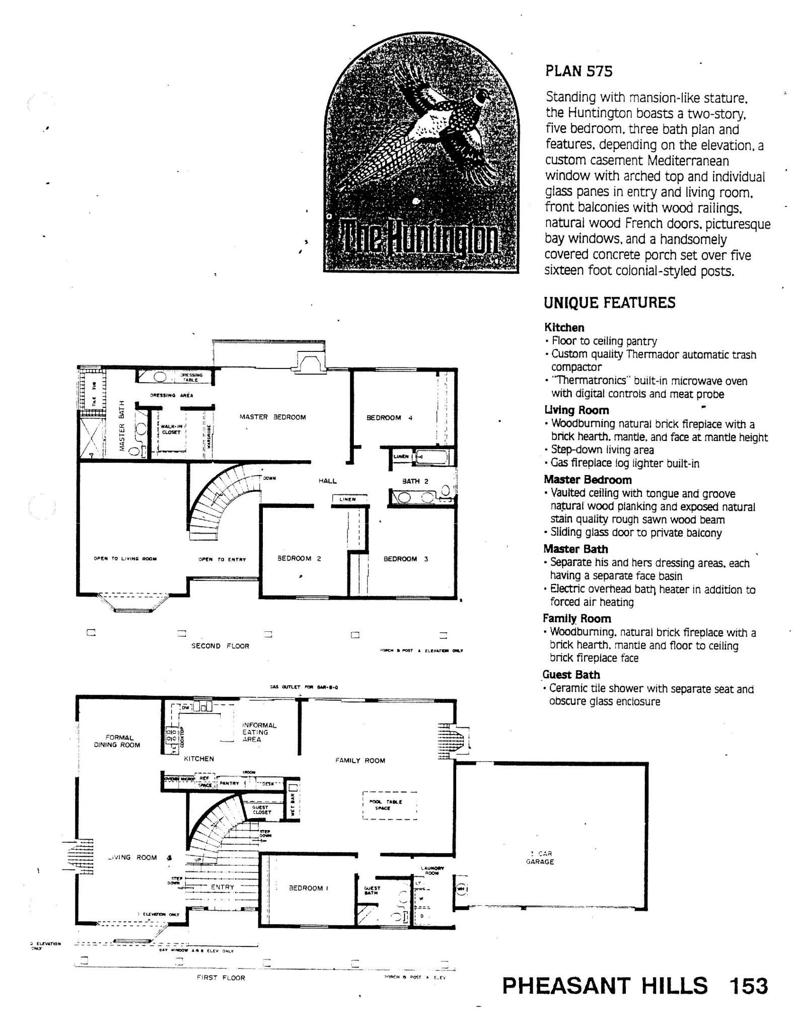 Pheasant Hills - The Huntington - Plan 575