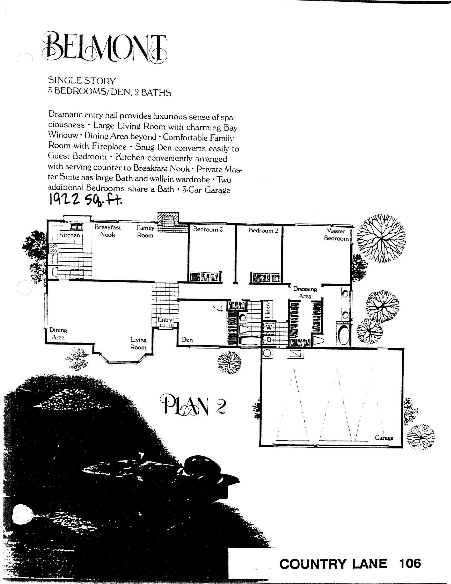Country Lane - Belmont - Plan 2
