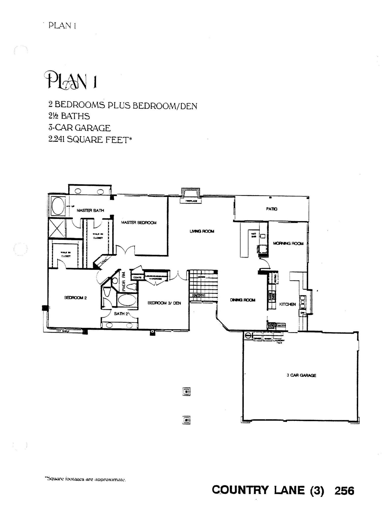 Country Lane - Plan 1