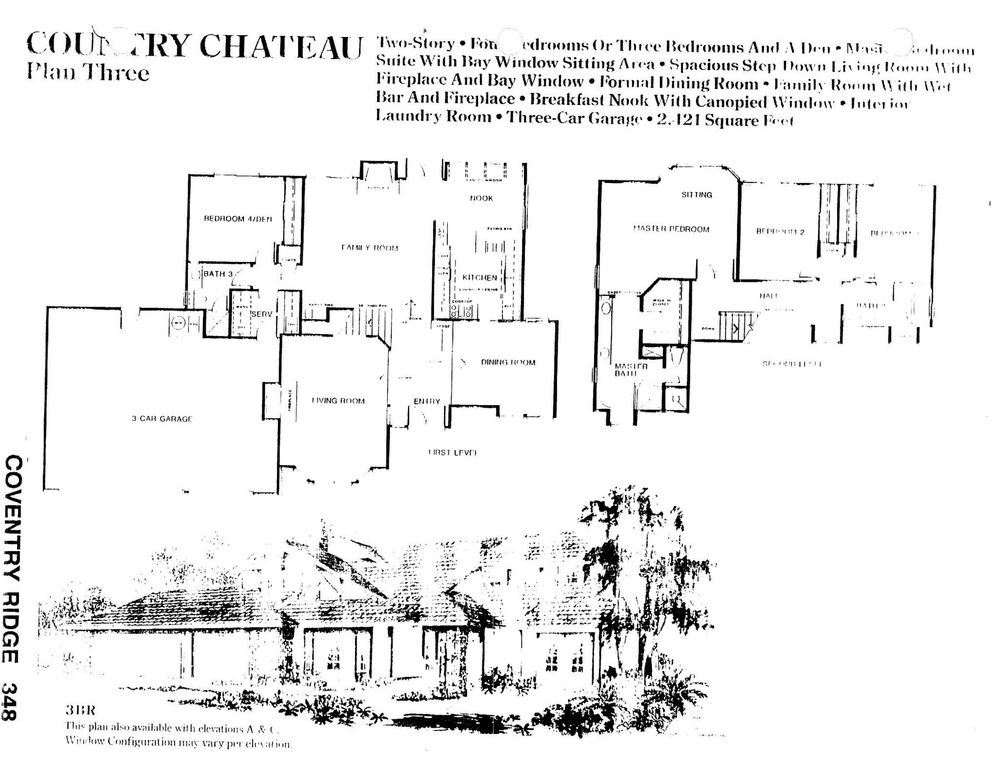 Coventry Ridge - Country Chateau - Plan Three