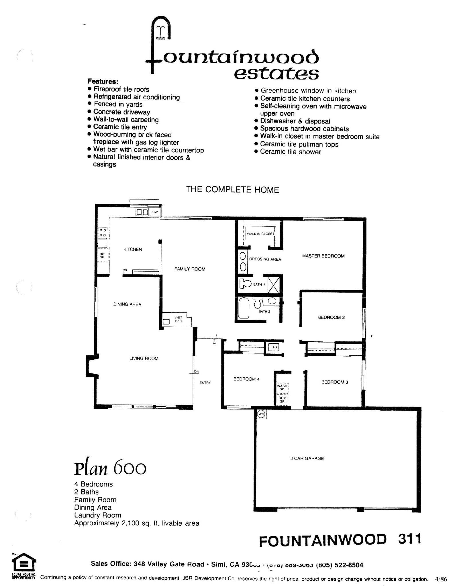 Fountainwood Estates - Plan 600