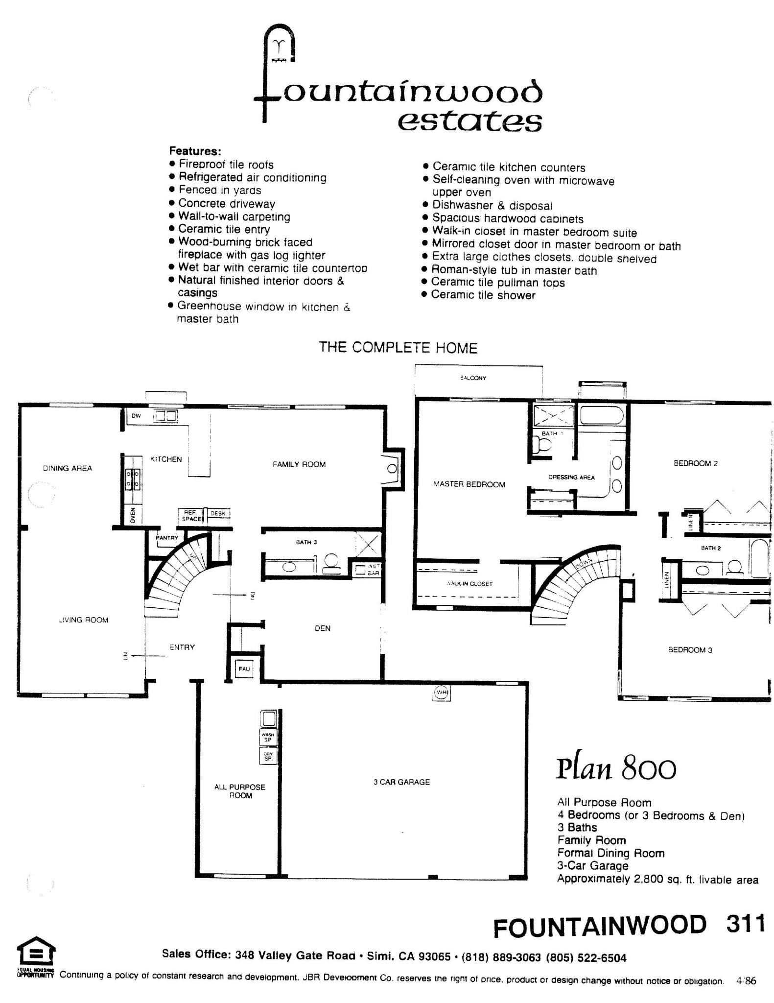 Fountainwood Estates - Plan 800