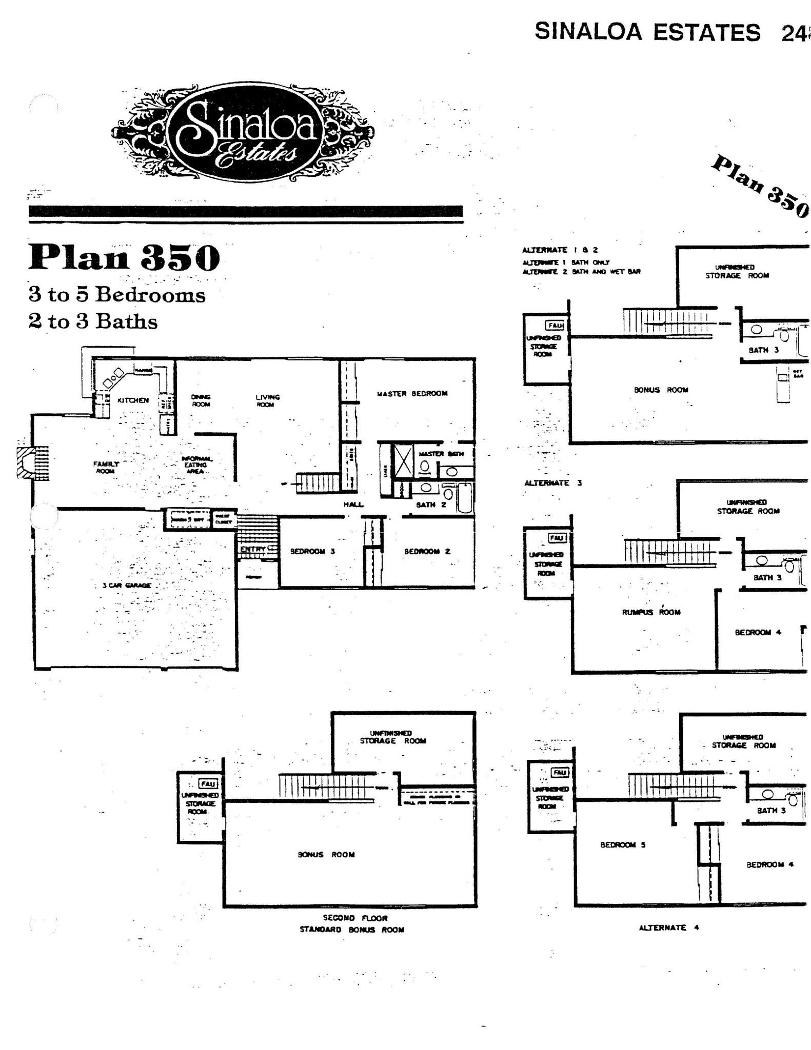 Sinaloa Estates - Plan 350