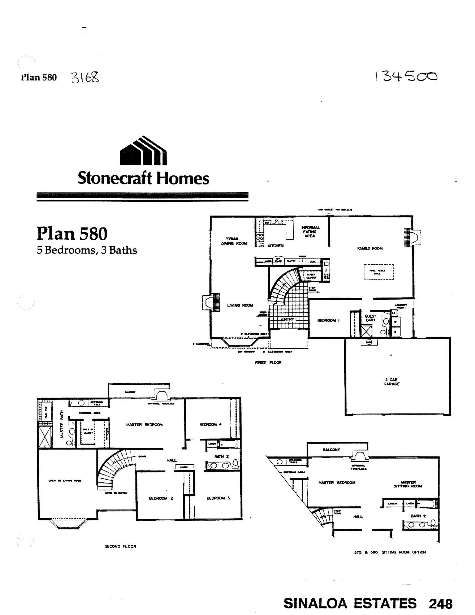 Sinaloa Estates - Plan 580