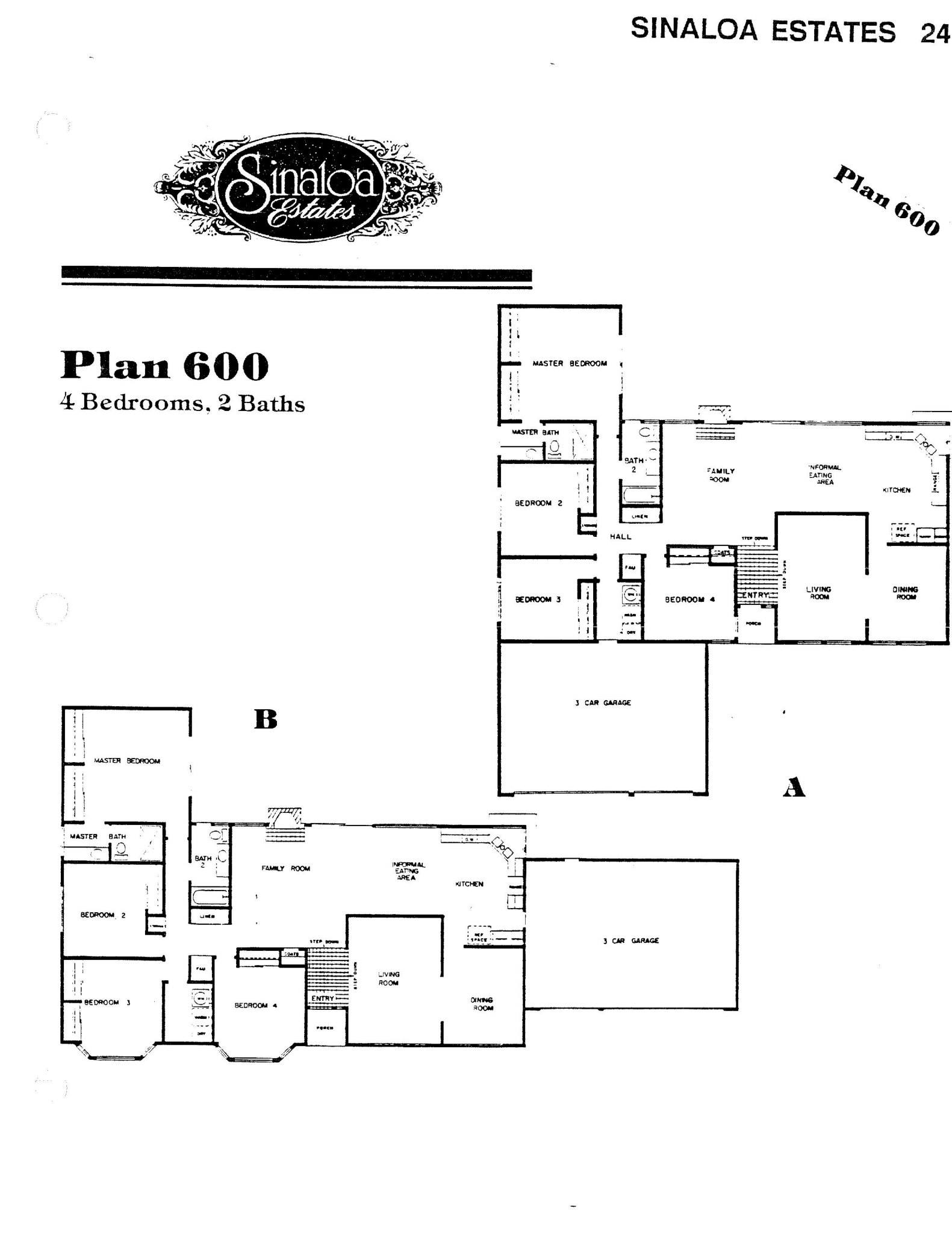 Sinaloa Estates - Plan 600