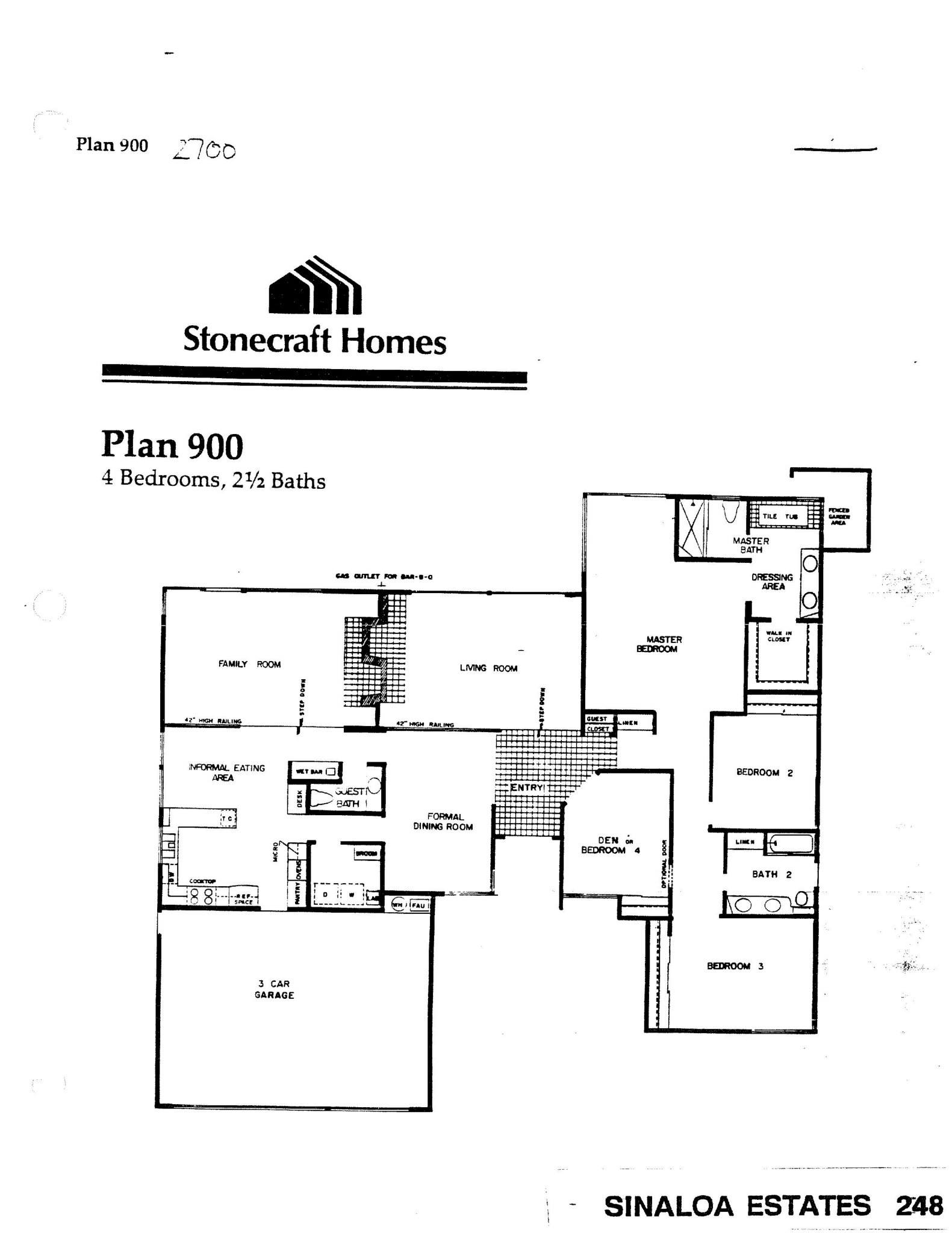 Sinaloa Estates - Plan 900