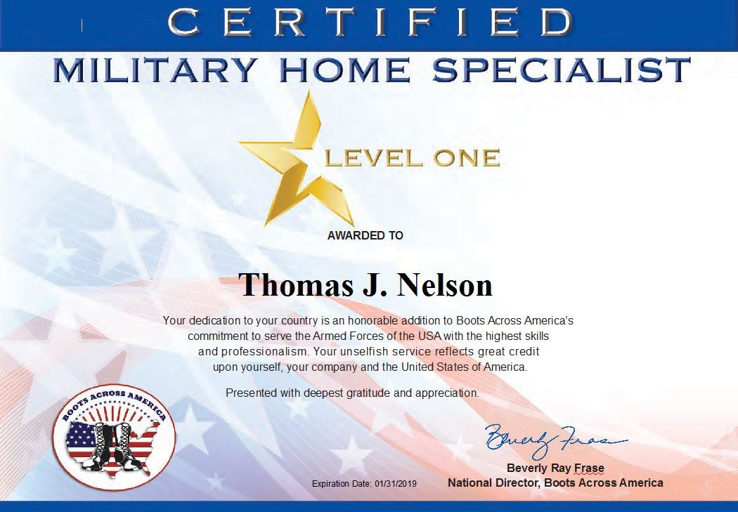 Certificate Military Service