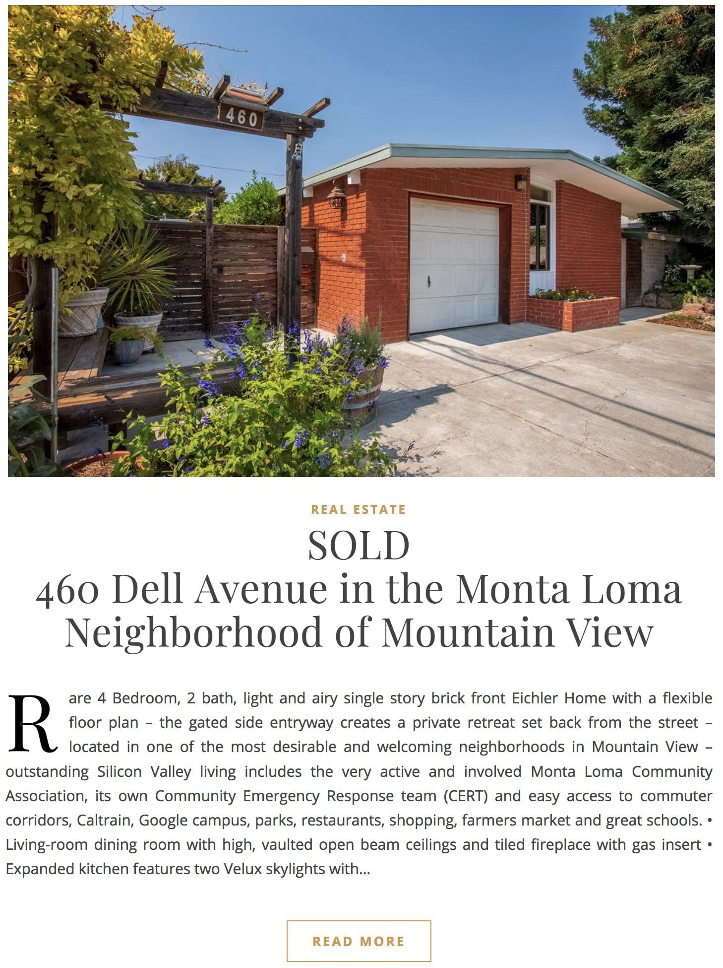460 Dell Avenue - SOLD