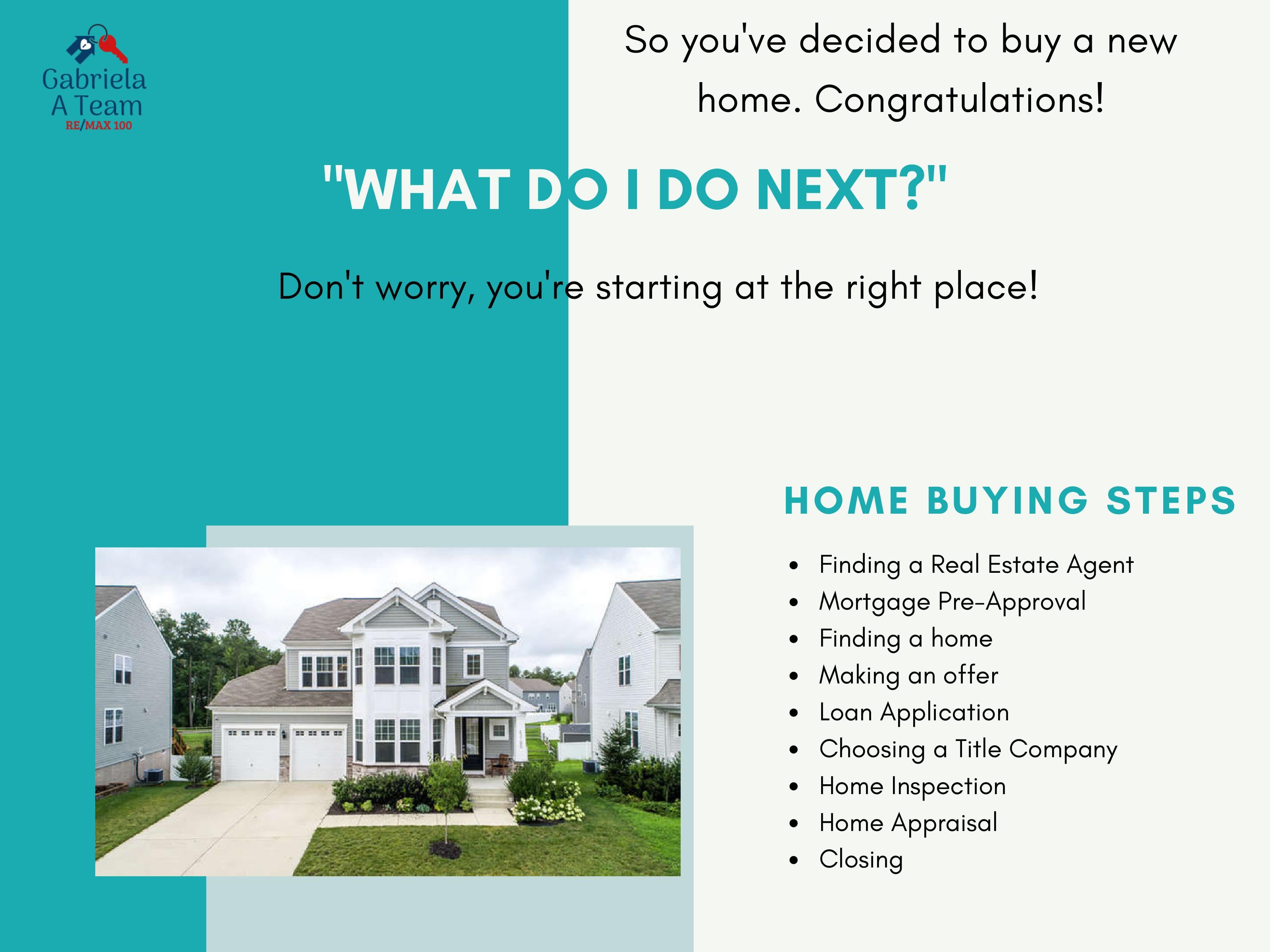 3rd slide of home buying guide with steps