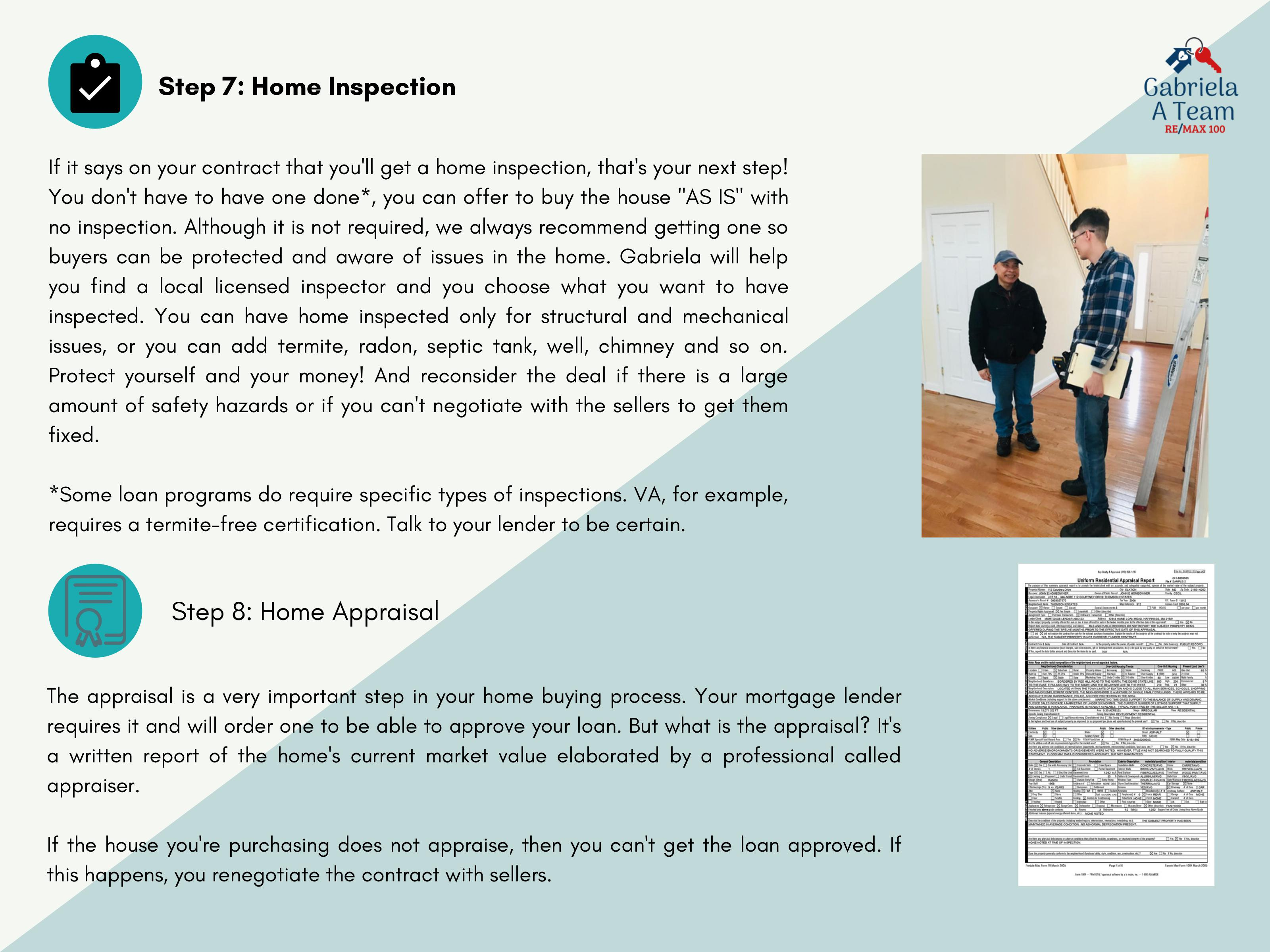 8th slide of home buying process 7th and 8th steps