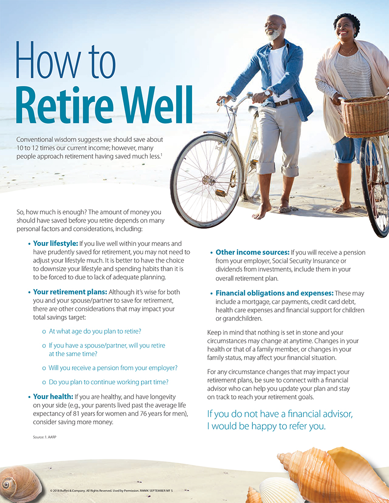 IOV How to Retire Well