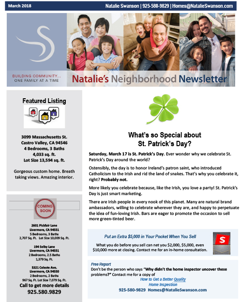 NL March 2018 Newsletter