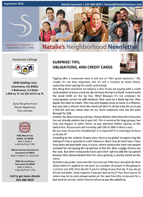 NL September 2018 Newsletter