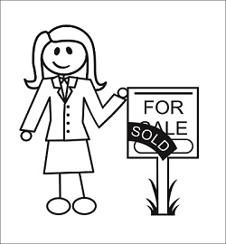 Margie Bryant Holding a Sold Sign