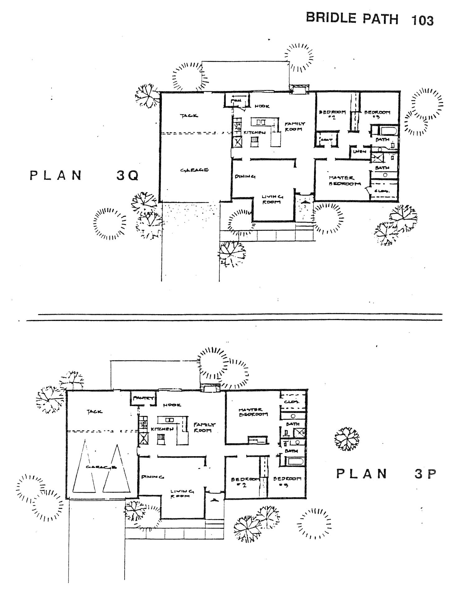 Bridle Path - Plan 3Q & 3P