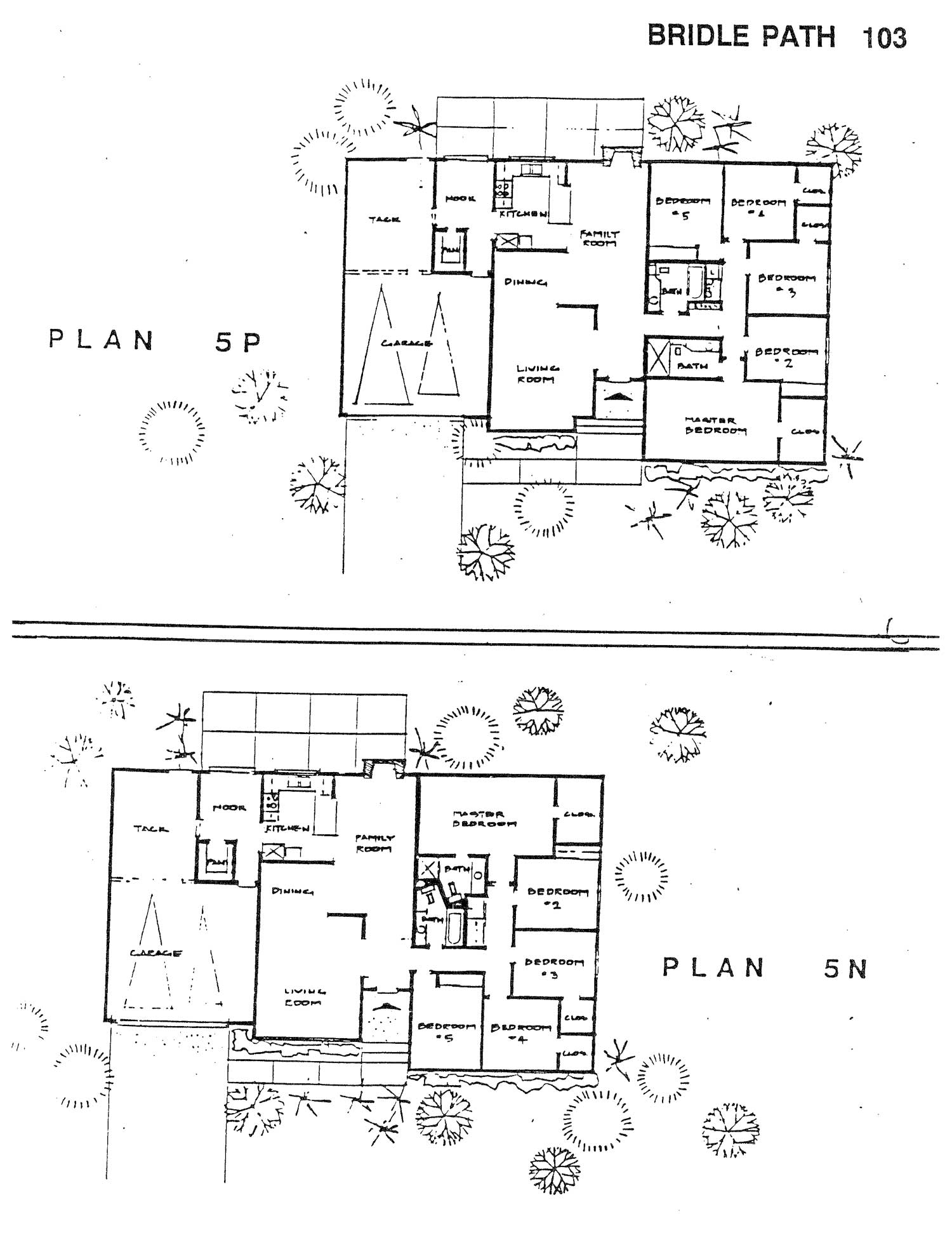 Bridle Path - Plan 5P & 5N
