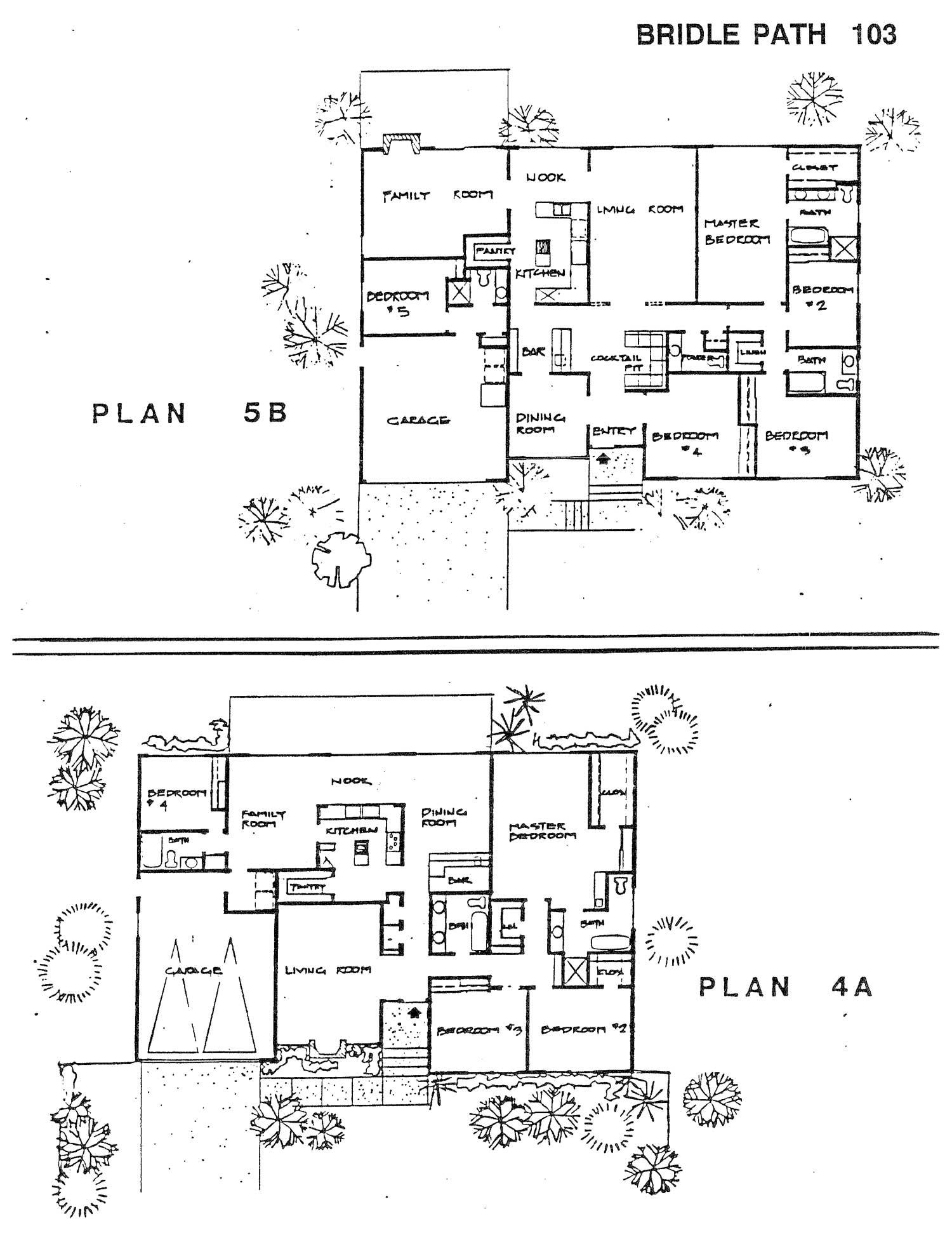 Bridle Path - Plan 4A & 5B