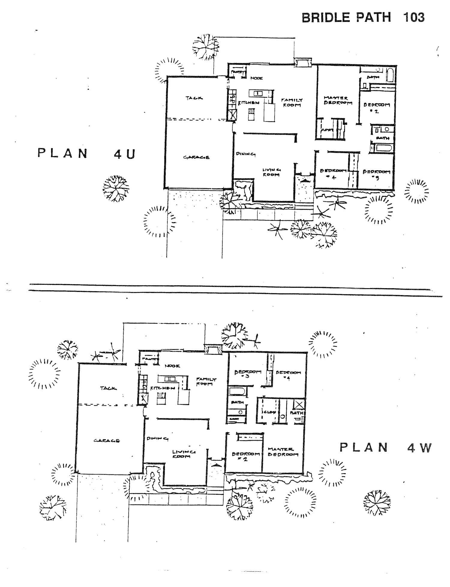 Bridle Path - Plan 4U & 4W
