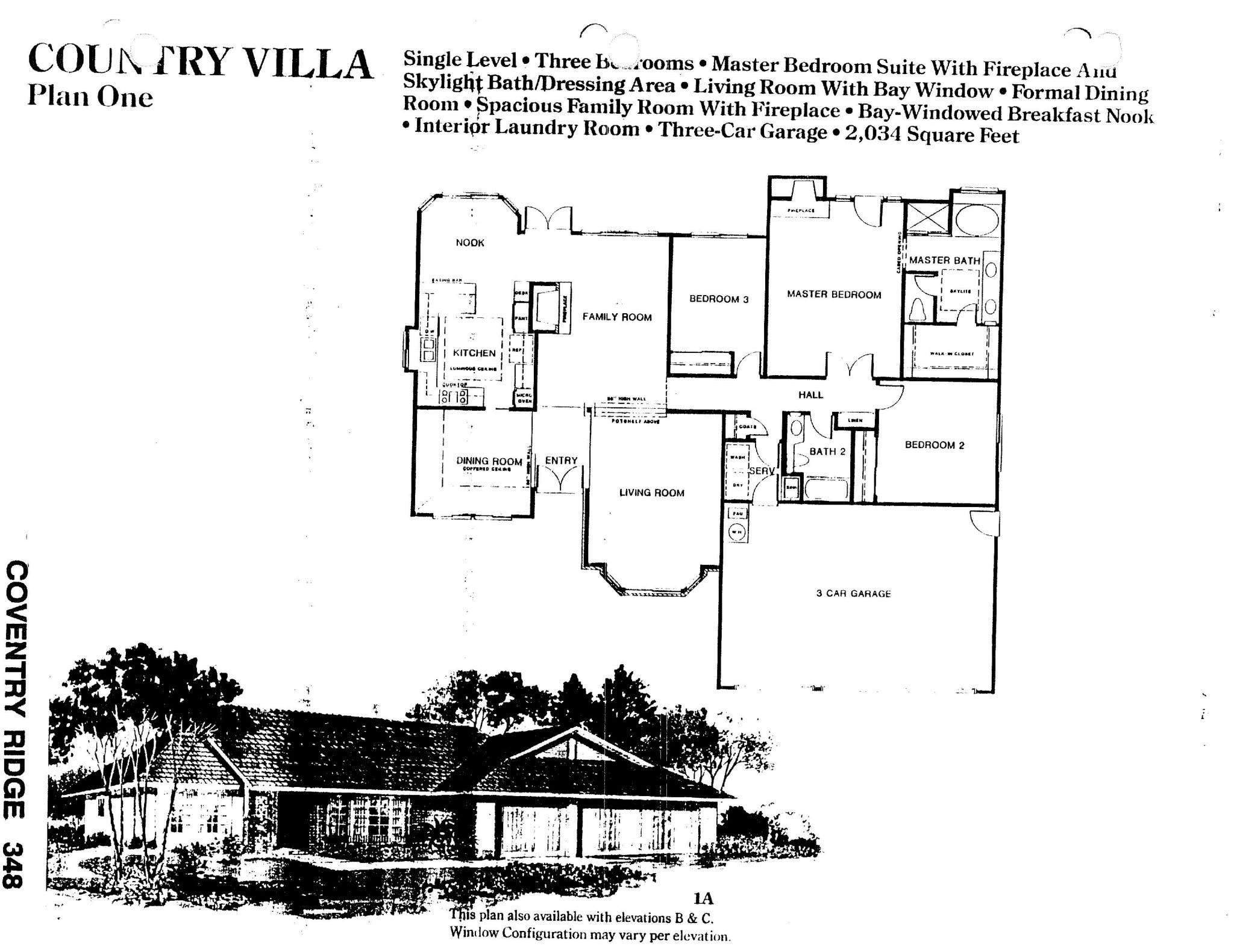 Coventry Ridge - Country Villa - Plan One